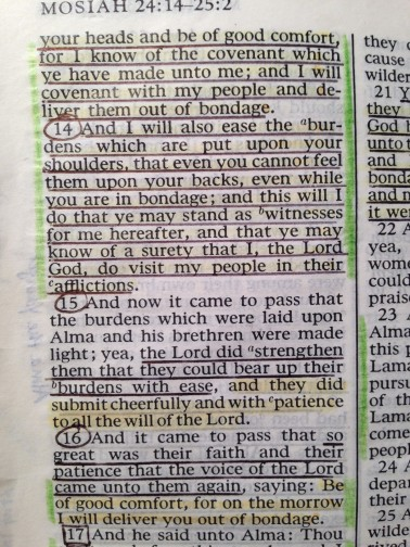 Mosiah 24 - visit in afflictions